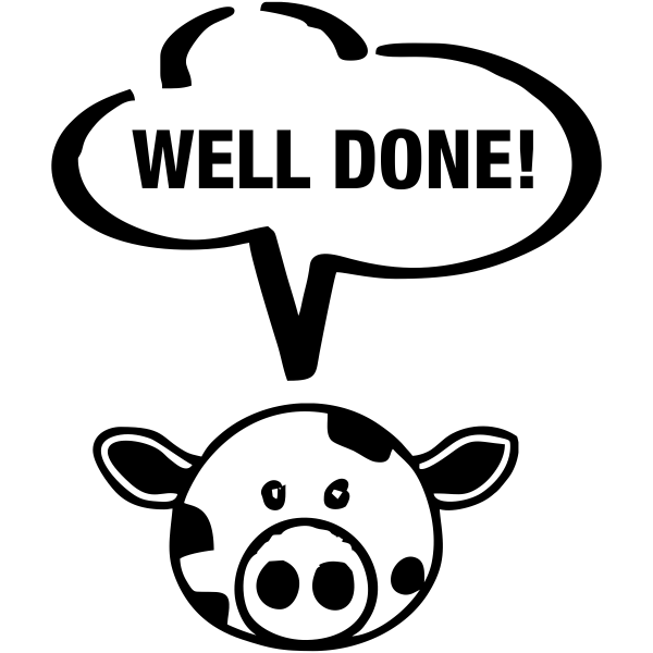 Well Done Cow Teacher Stamp