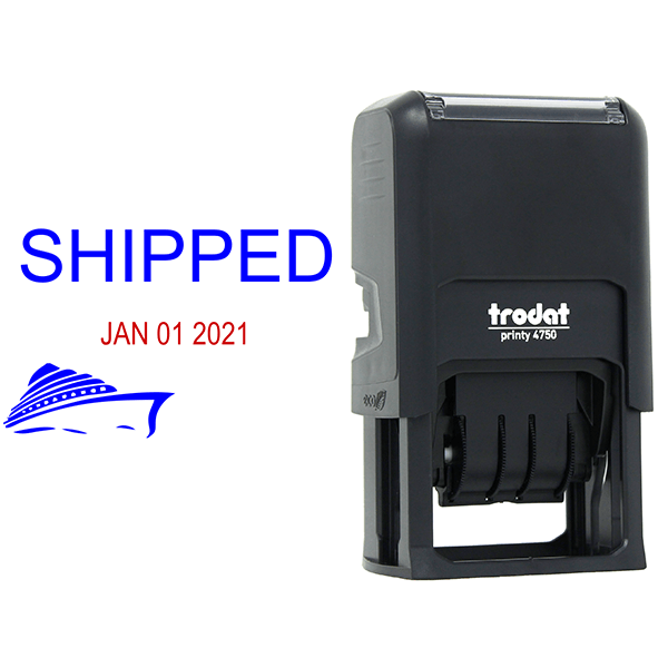 Shipped Ship Dater Stamp Body and Design