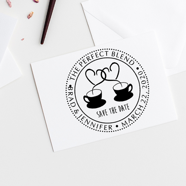 The Perfect Blend Save the Date Stamp Imprint Example