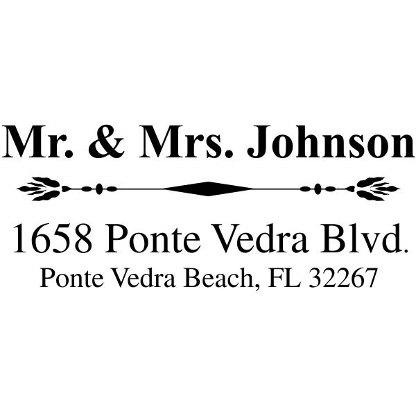 Mr. And Mrs. Accent Return Address Stamp Imprint