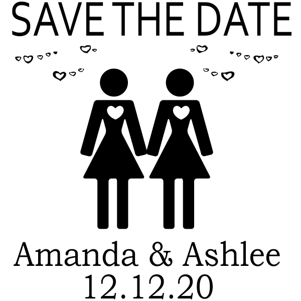 Lesbian Icon Save the Date Stamp
