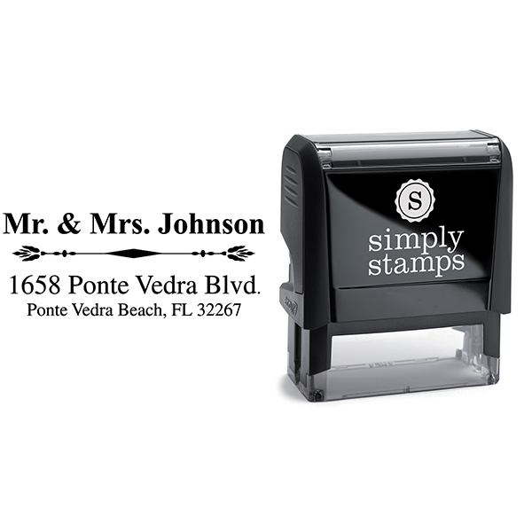 Mr. And Mrs. Accent Return Address Stamp Body and Imprint