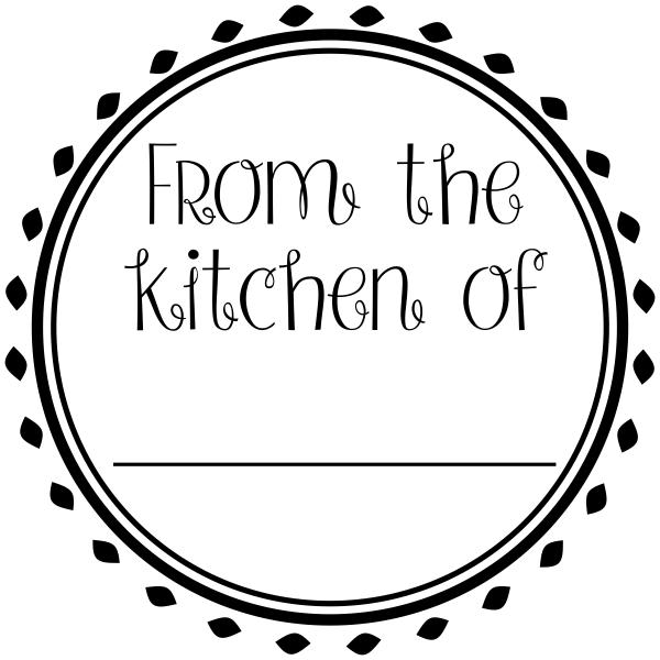 From the Kitchen Round Decorative Stamp