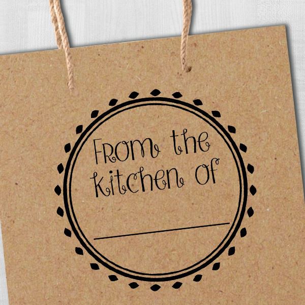 From the Kitchen Round Decorative Stamp Imprint Example