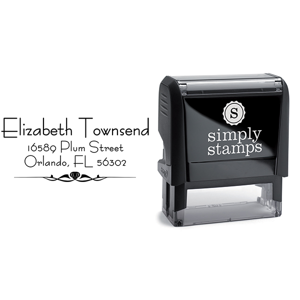 Natural Deco Accent Return Address Stamp