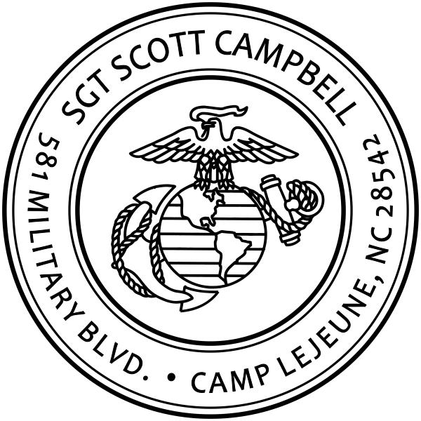 USMC Return Address Stamp