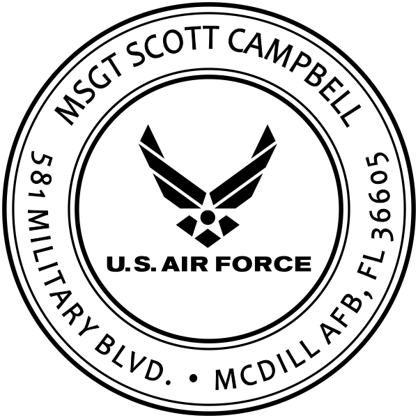 Custom Return Address US Air Force Stamper