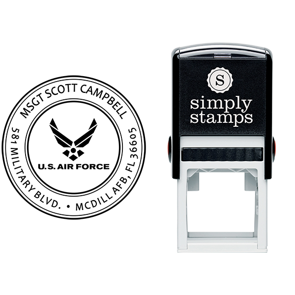 Return Address United States Air Force Stamp Body and Design