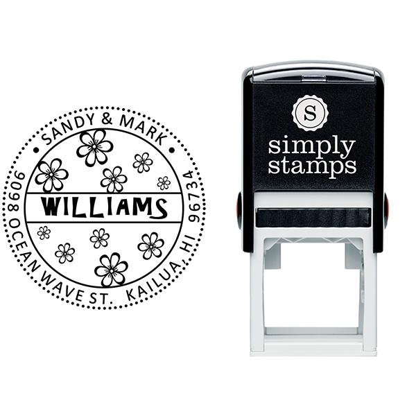 Hibiscus Flower Address Stamp Body and Design