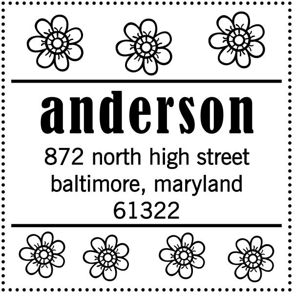 Anderson Flowers Address Stamper