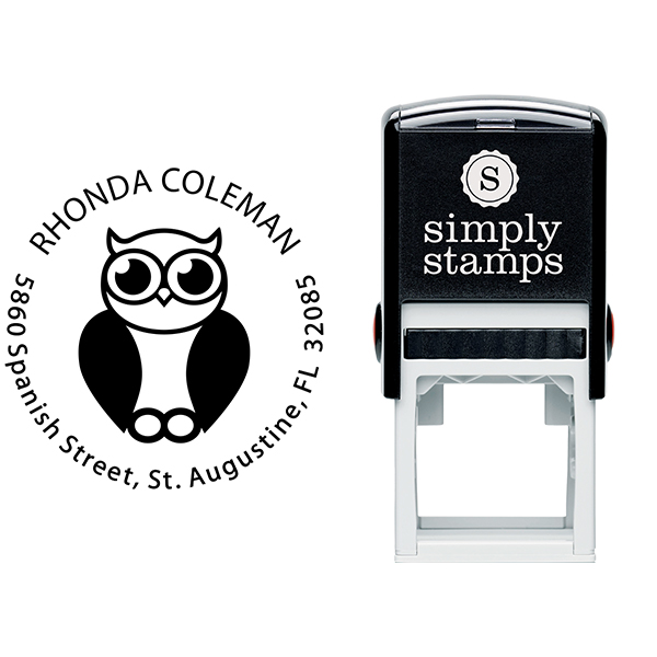 Big Eyed Owl Address Stamp Body and Design