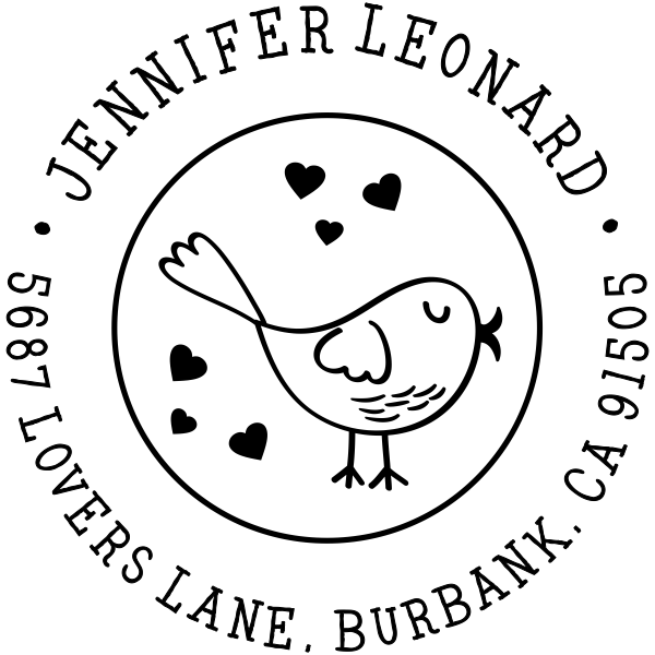 Tweety Bird with Hearts Address Stamp