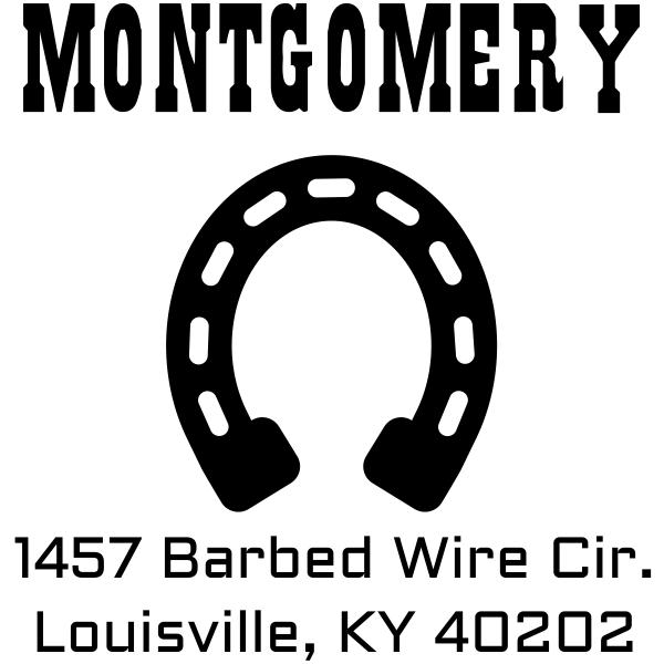 Montgomery Horseshoe Return Address Stamp
