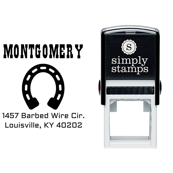 Montgomery Horseshoe Address Stamp Body and Design