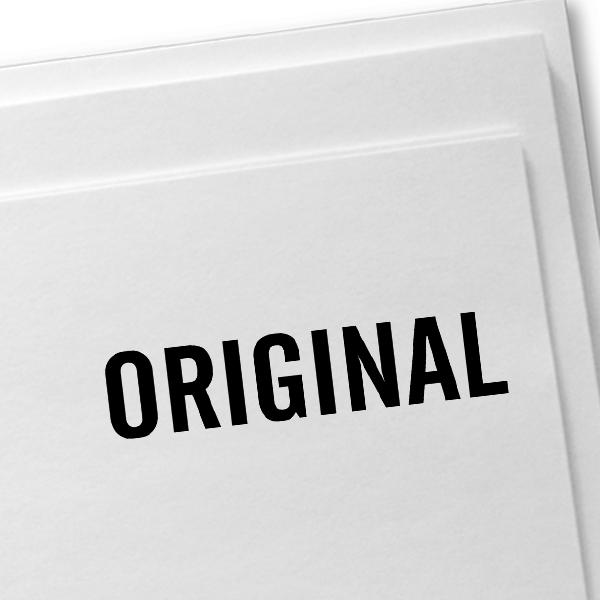 ORIGINAL all Caps Stock Stamp