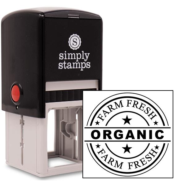 Farm Fresh Organic Rubber Stamp
