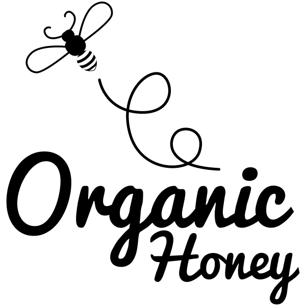 Organic Honey Bouncing Bee Rubber Stamp Imprint Example