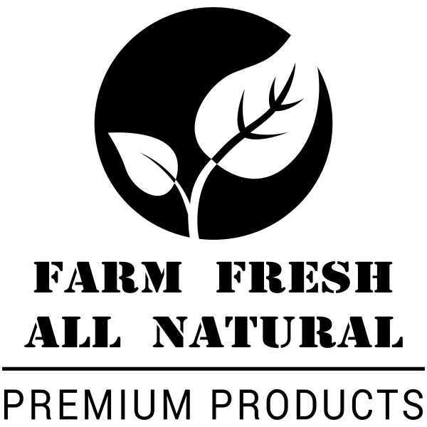 Farm Fresh All Natural Square Rubber Stamp Imprint Example