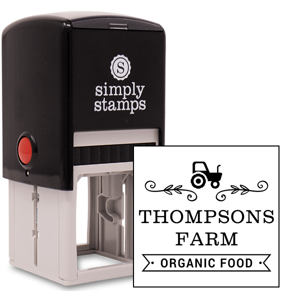 Thompsons Farm Organic Food Rubber Stamp