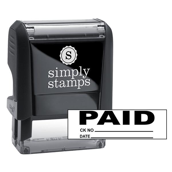 PAID plus Info Stock Stamp