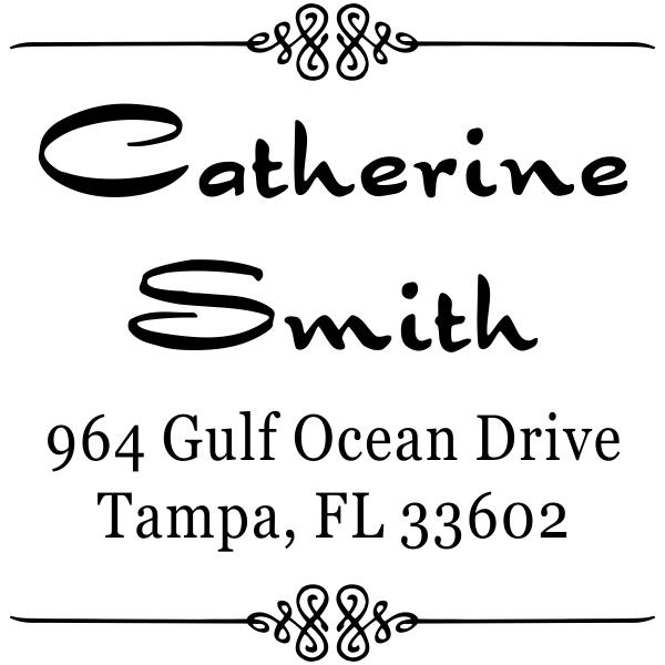 Smith Deco 4 Line Return Address Stamp