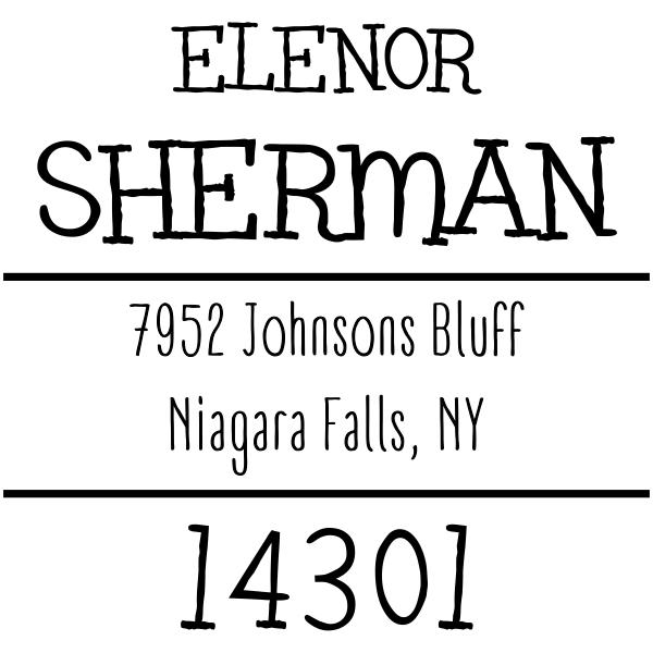 Sherman Whimsy Custom Address Stamper