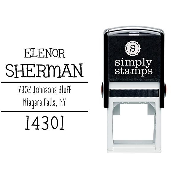 Sherman Whimsy Return Address Stamp Body and Design