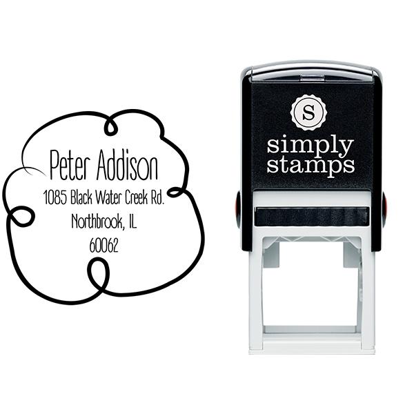 Addison Cloud Border Address Stamp Body and Design