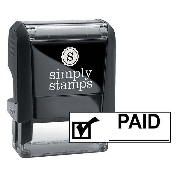 PAID Check Mark Stock Stamp
