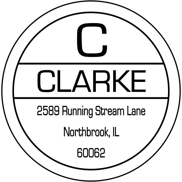 Clarke Initial Return Address Stamper