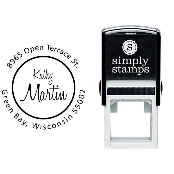 Martin Center Name Address Stamp Body and Design