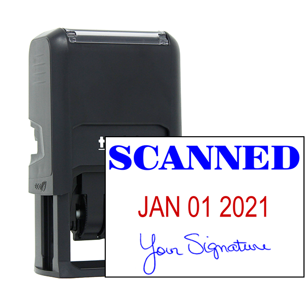 Scanned Signature Date Rubber Stamp