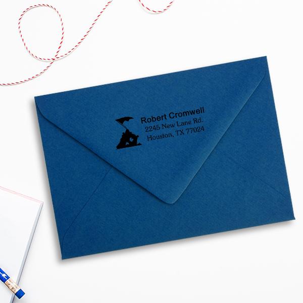 Iwo Jima Return Address Stamp Imprint Example