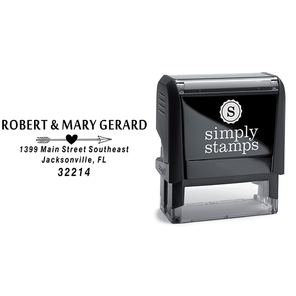 Gerard Heart Arrow Address Stamp Body and Design