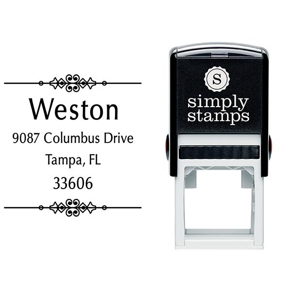 Weston Vintage Address Stamp Body and Design
