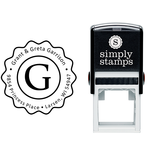 Garrison Groovy Border Address Stamp Body and Design
