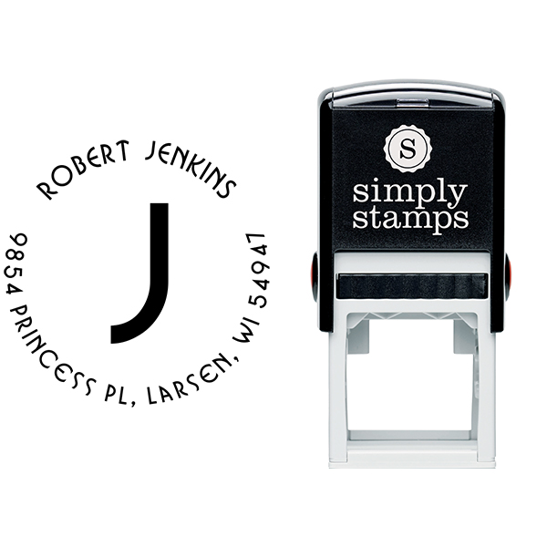Jenkins Capital Letter Address Stamp Body and Design