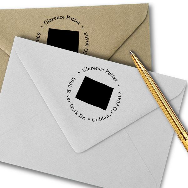 Colorado Round Address Stamp Imprint Example