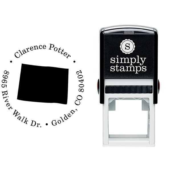 Colorado Round Address Stamp Body and Design