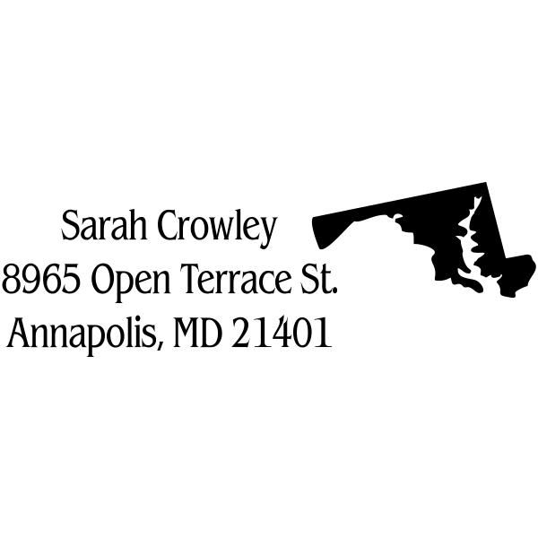 Maryland Return Address Stamp