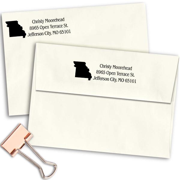 Missouri Return Address Stamp Imprint Example