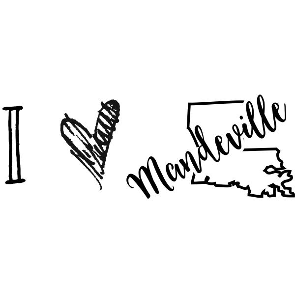 I Love Louisiana Rubber Stamp
