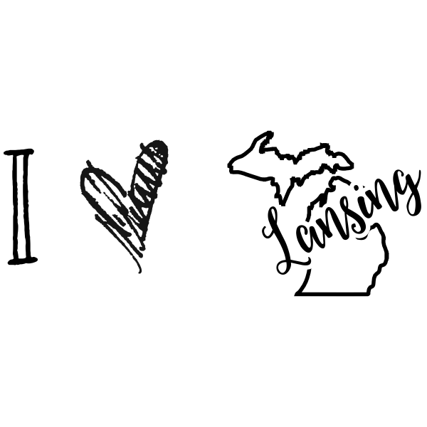 I Love Michigan Rubber Stamp