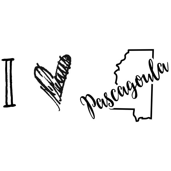 I Love Mississippi Rubber Stamp