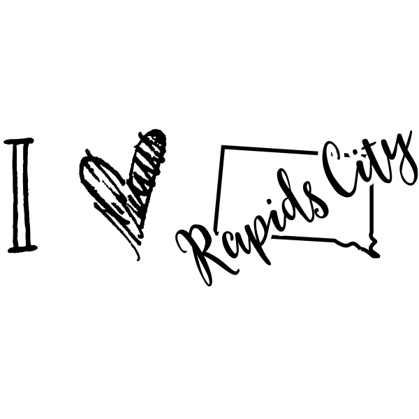 I Love South Dakota Rubber Stamp