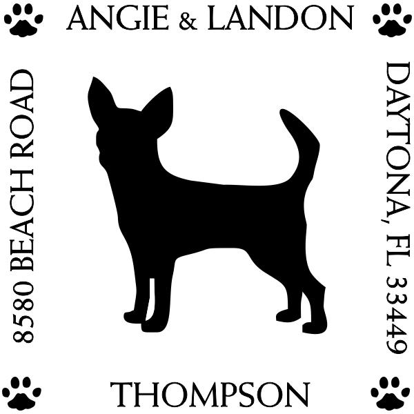 Chihuahua Dog Address Stamp