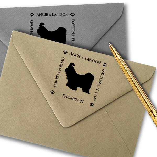 Shih Tzu Pet Lover Dog Address Stamp Imprint Example