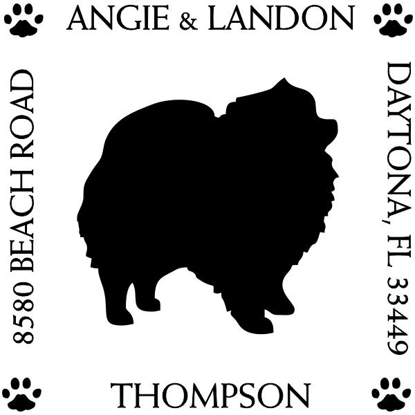 Pomeranian Pet Lover Dog Address Stamp