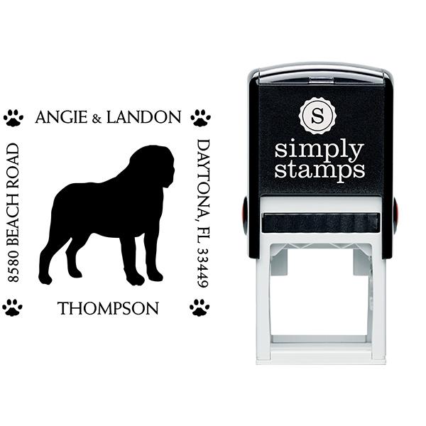 St. Bernard Pet Lover Dog Address Stamp Body and Design