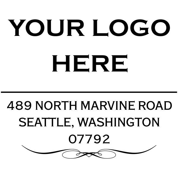 Vintage Logo Address Stamp